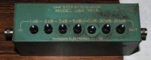 UBA-761A DC~900MHz 1~61dB(75Ω)