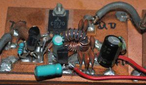 50MHz高周波電力増幅回路