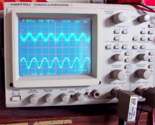 シンクロスコープにて波形観測