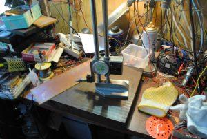 チップ貼り付け配線用の基板製作